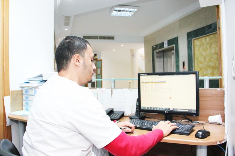 département hospitalisation agent accceuil